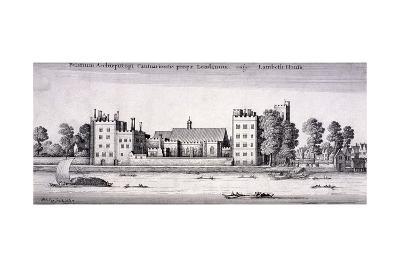 Lambeth Palace, London, 1647-Wenceslaus Hollar-Giclee Print