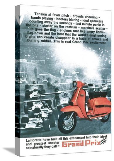 Lambretta Grand Prix--Stretched Canvas Print