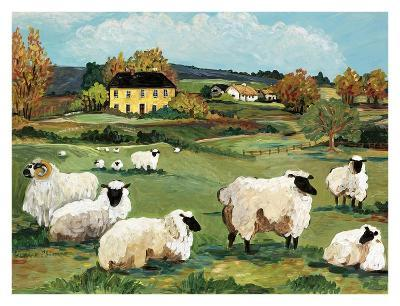 Lambs on Green Hill-Suzanne Etienne-Art Print