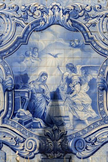 Lamego, Portugal, Shrine of Our Lady of Remedies, Azulejo-Jim Engelbrecht-Photographic Print