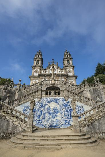 Lamego, Portugal, Shrine of Our Lady of Remedies Exterior Steps-Jim Engelbrecht-Photographic Print