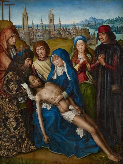 Lamentation with Saint John the Baptist and Saint Catherine of Alexandria, C.1493-1501--Giclee Print