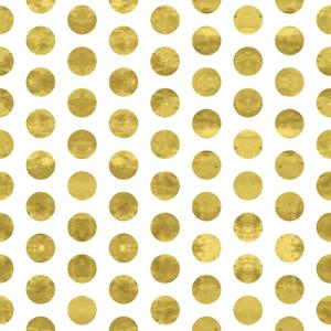 White and Gold Pattern. Abstract Geometric Modern Polka Dot Background. Vector Illustration.Shiny B by Lami Ka