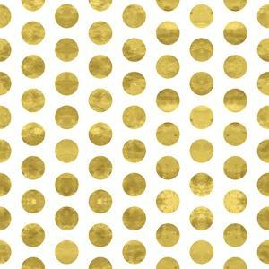 White and Gold Pattern. Abstract Geometric Modern Polka Dot Background. Vector Illustration.Shiny B by Lami Ka
