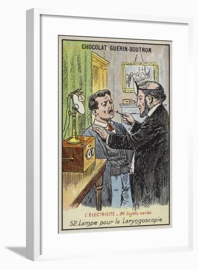 Lamp for Performing a Laryngoscopy--Framed Giclee Print