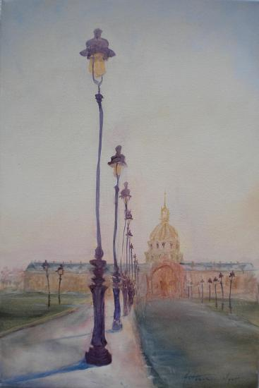 Lamp Post in Front of Dome Church, 2010-Antonia Myatt-Giclee Print