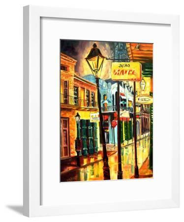 Lamp Post On Bourbon Street-Diane Millsap-Framed Art Print