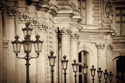 Lamp Posts and Columns at the Louvre Palace, Paris, France-Russ Bishop-Photographic Print