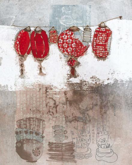 Lampions-Helene Druvert-Art Print