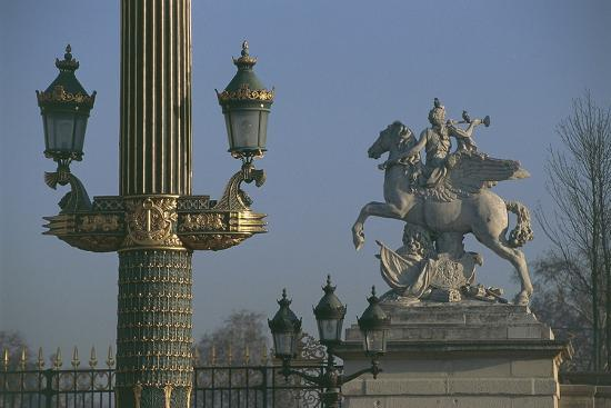 Lampposts Added During the 19th Century Upgrade of the Place De La Concorde--Photographic Print