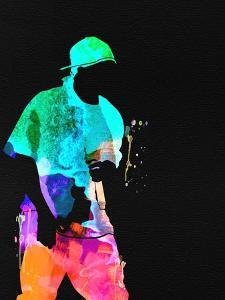 50 Cent Watercolor by Lana Feldman