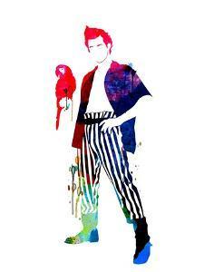 Ace Ventura Watercolor by Lana Feldman