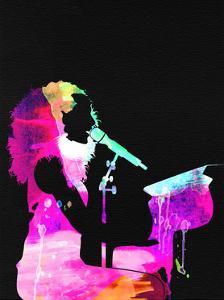 Alicia Keys Watercolor by Lana Feldman