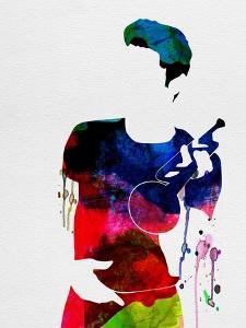 Chet Baker Watercolor by Lana Feldman