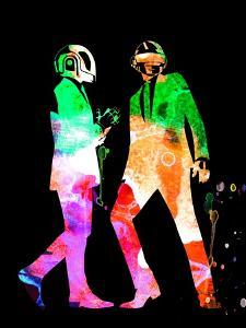 Daft Punk Watercolor by Lana Feldman