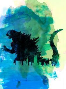Godzilla Watercolor by Lana Feldman