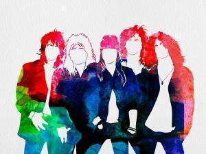 Guns N' Roses Watercolor by Lana Feldman