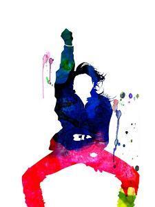 Janet Jackson Watercolor by Lana Feldman