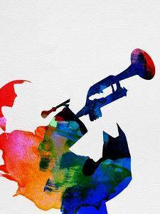 Miles Davis Watercolor by Lana Feldman