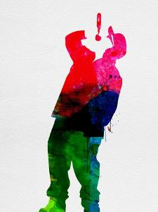Straight outta Compton Watercolor by Lana Feldman