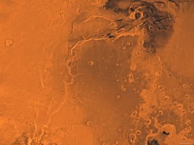 Lanae Palus Region of Mars-Stocktrek Images-Photographic Print