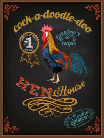 Chalkboard Poster for Chicken Restaurant