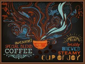 Chalkboard Poster for Coffee Shop by LanaN.