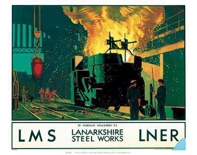 Lanarkshire Steel Works, LMS/LNER, c.1935--Art Print