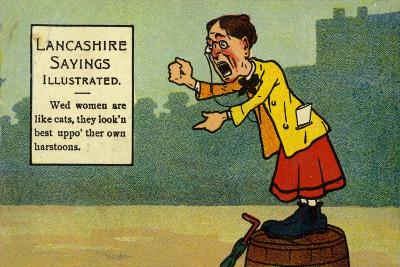 Lancashire Sayings Illustrated--Giclee Print