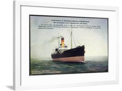 Lancashire, Yorkshire Railway, S.S. Mersey--Framed Giclee Print
