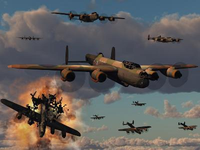 Lancaster Heavy Bombers of the Royal Air Force Bomber Command-Stocktrek Images-Photographic Print