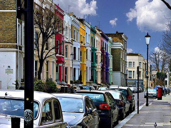 Lancaster Road Colorful Apartments in Notting Hill, London-Anna Siena-Photographic Print