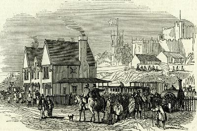 Lancaster Station U.K. 1846 Opening of the Lancaster and Carlisle Railway--Giclee Print