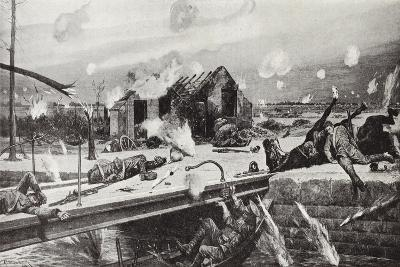 Lance-Corporal Charles Jarvis Blowing Up the Bridge at Jemappes, Belgium, 23 August, 1914-Richard Caton Woodville II-Giclee Print