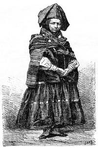 Aymara Indian, La Paz, Bolivia, 19th Century by Lancelot