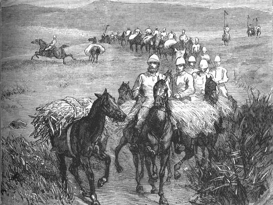'Lancers Returning from a Foray', c1880-Unknown-Giclee Print