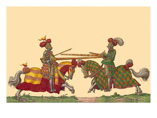 Lances at the Thrust Between Knights-Hector Mair Paulus-Art Print