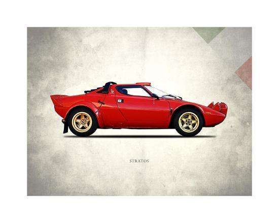 Lancia Stratos 1974-Mark Rogan-Giclee Print