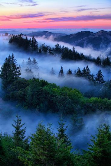 Land of Dreams and Fog, Sunset Over San Francisco Bay Area Hills-Vincent James-Photographic Print