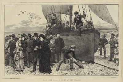 Land Once More!, a Study at the Sea-Side-Charles Green-Giclee Print