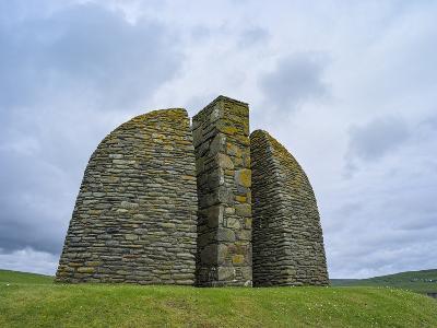 Land Raiders Monument Near Coll and Gress, Isle of Lewis, Scotland-Martin Zwick-Photographic Print