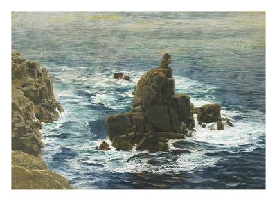 Land's End, 1872 (Oil on Board)-John Brett-Giclee Print