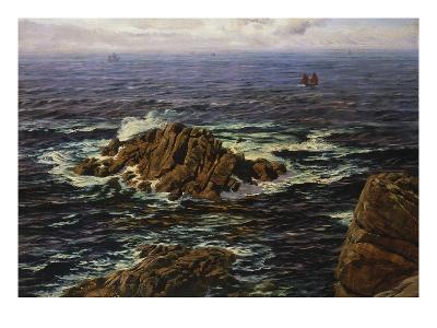 Land's End, Cornwall, England-John Brett-Giclee Print