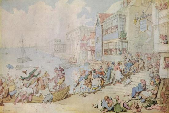 'Landing at Greenwich', c1780-Thomas Rowlandson-Giclee Print