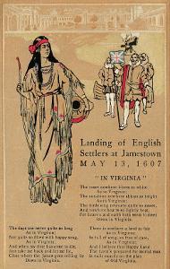 Landing at Jamestown, Virginia
