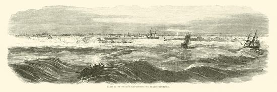 Landing of Banks's Expedition on Brazos Santiago, November 1863--Giclee Print