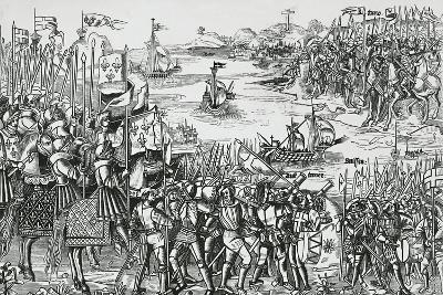 Landing of Crusaders at Damietta, May 1218--Giclee Print