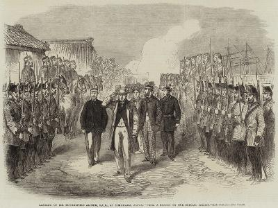 Landing of Sir Rutherford Alcock, Kcb, at Yokohama, Japan--Giclee Print