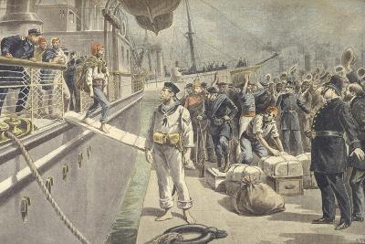 Landing of Spanish Prisoners at Key West During Spanish-American War of 1898--Giclee Print