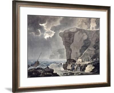 Landing of the Conspirators in the Cadoudal Affair at the Cliff of Biville..., 1771-1847-Armand Jules Marie Heraclius de Polignac-Framed Giclee Print